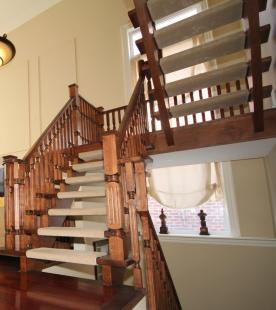 Cherry Staircase, Newel Posts, and Spindles